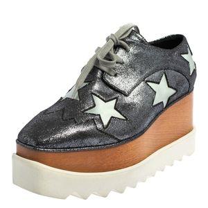 Stella McCartney Elyse Stars Glitter Platform Snea